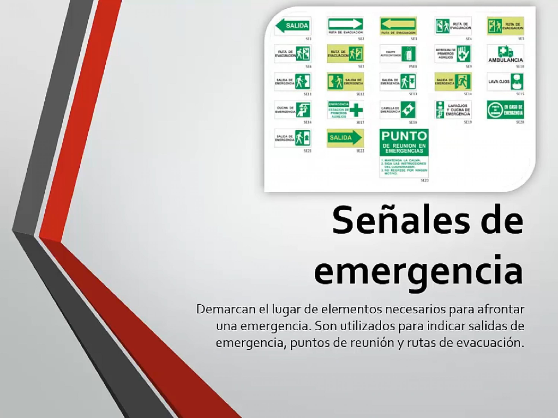 Señales de emergencia