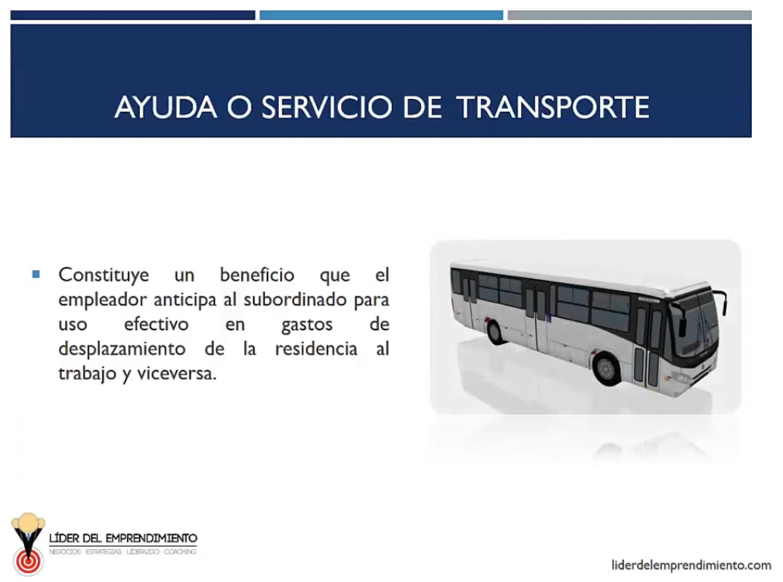 Ayuda o servicio de transporte