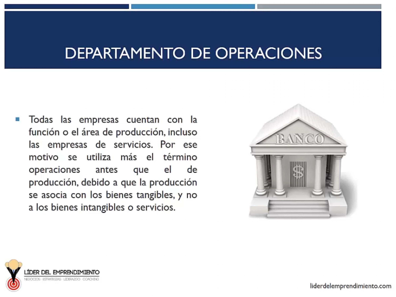 Departamento de operaciones
