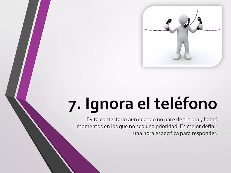 Ignora el teléfono