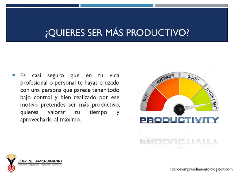 Quieres ser más productivo