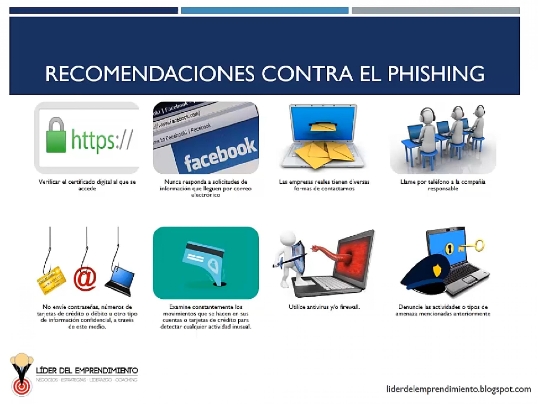 Recomendaciones contra el phishing II