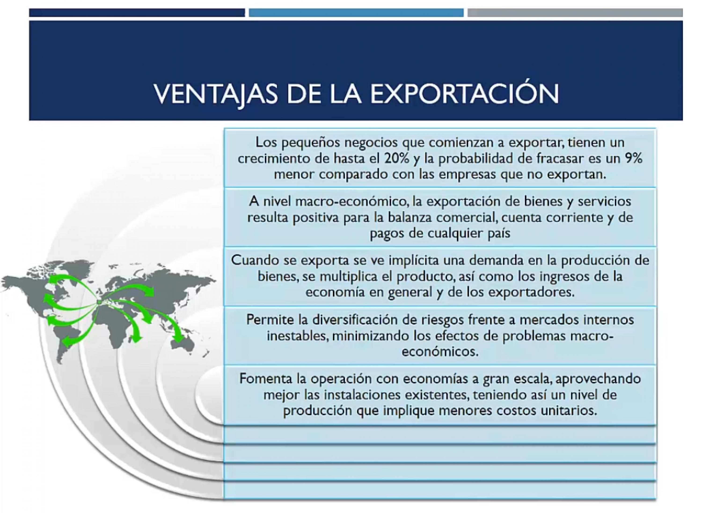 Ventajas de la exportación