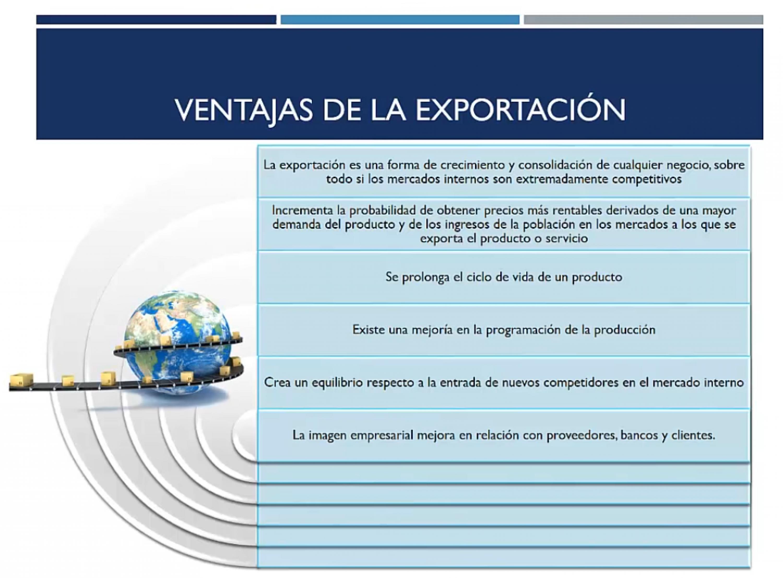 Ventajas de la exportación II