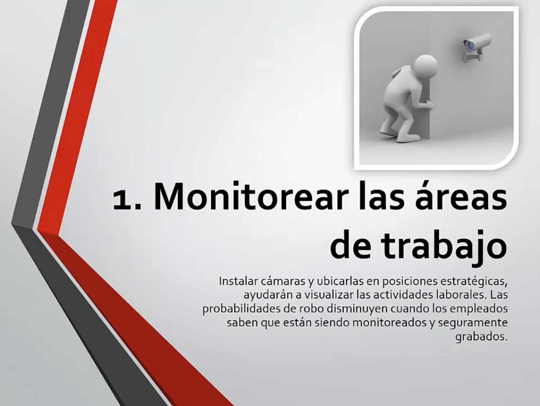 Monitorear las áreas de trabajo
