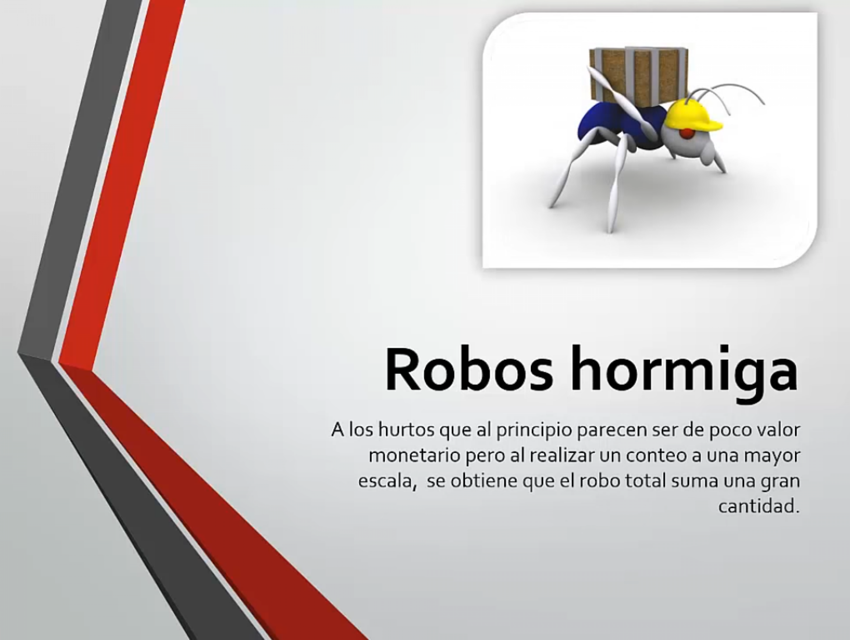 Robos hormiga
