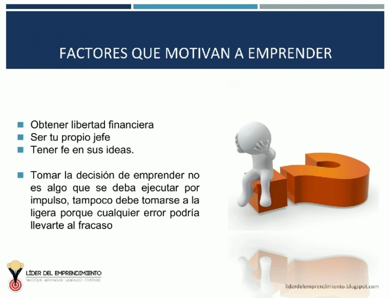 Factores que te motivan a emprender