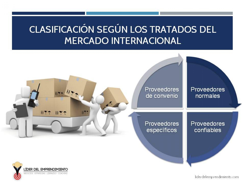 Clasificación de los proveedores según los tratados del mercado internacional