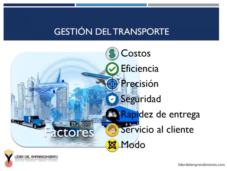 Factores de la gestión del transporte