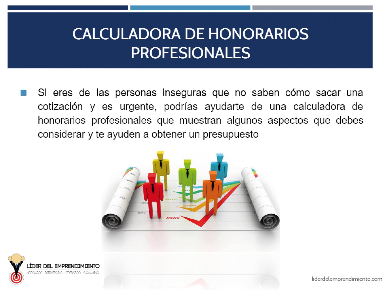 Calculadora de Honorarios profesionales