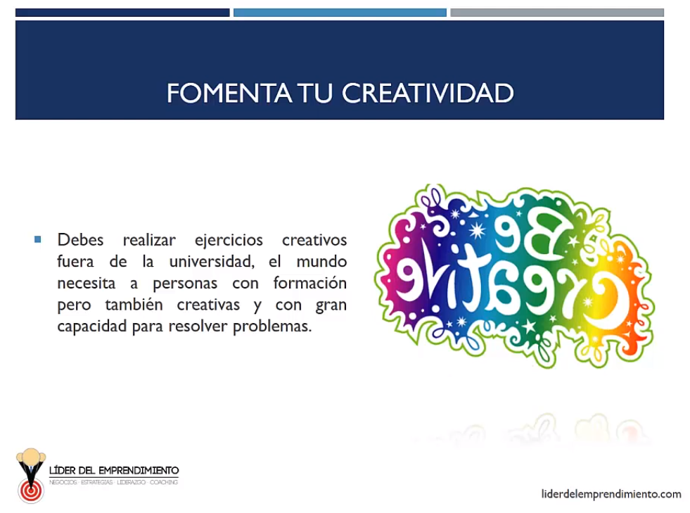 Fomenta tu creatividad