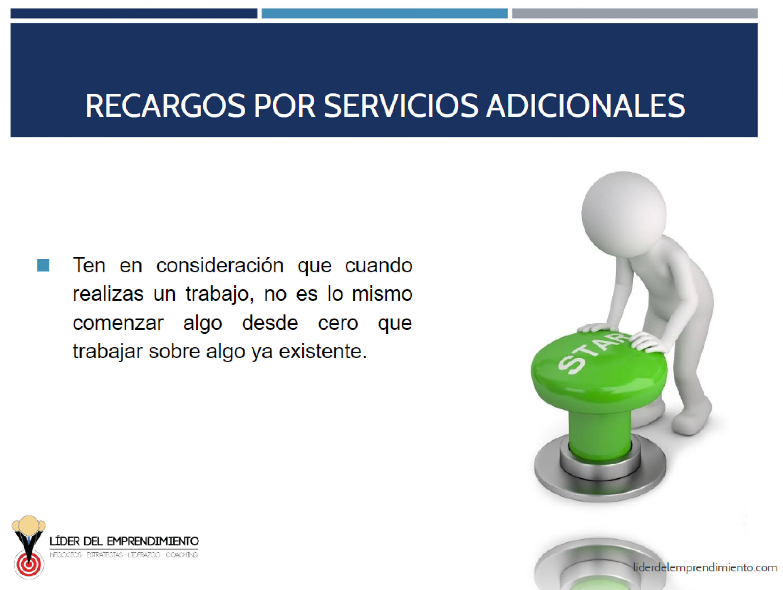 Recargos por servicios adicionales