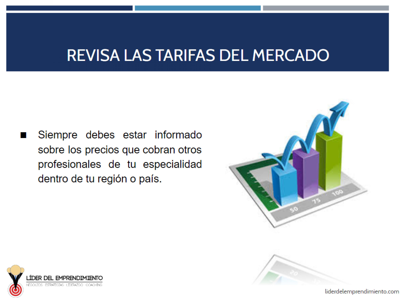Revisa las tarifas del mercado