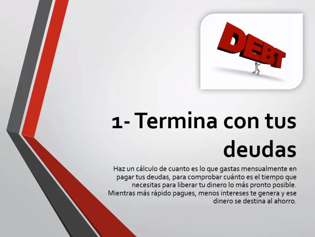 Termina con tus deudas