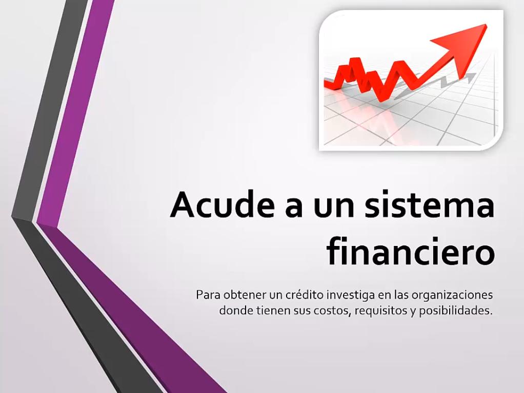 Acude a un sistema financiero