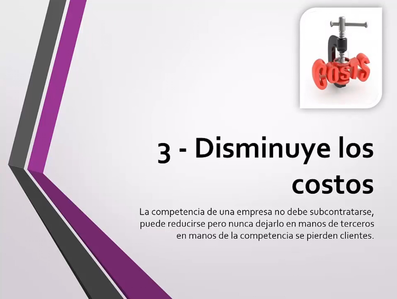Disminuye los costos