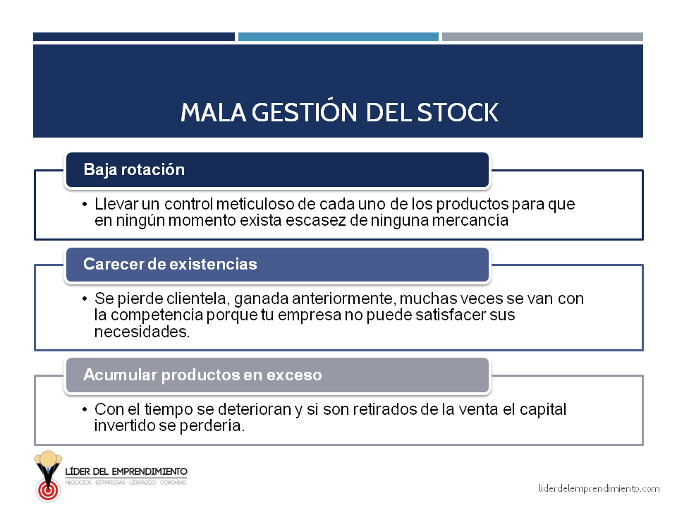 Mala gestión del stock