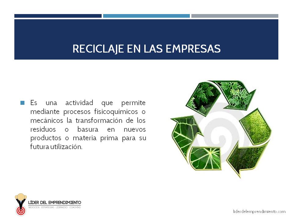 Reciclaje en las empresas