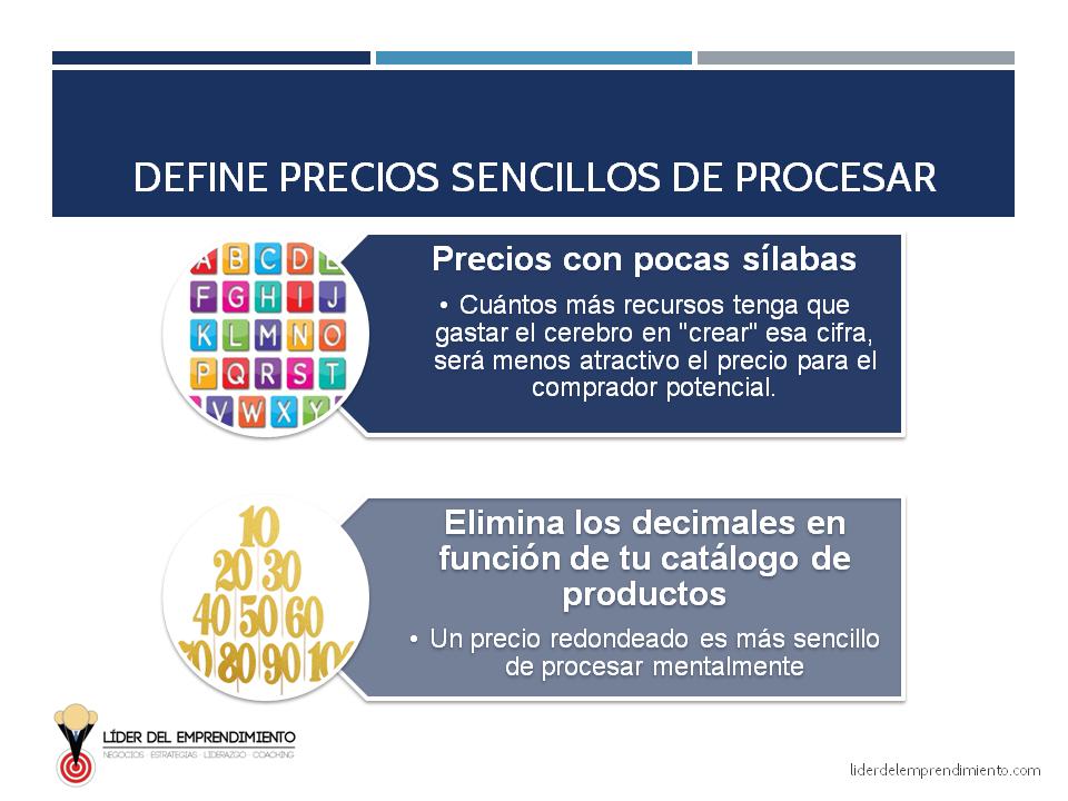 Define precios sencillos de procesar para tus clientes