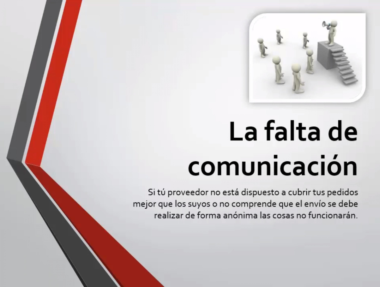 La falta de comunicación