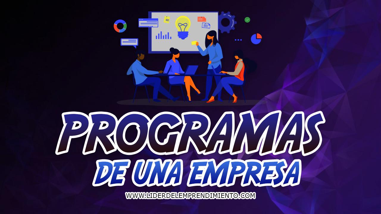 Programas de una empresa